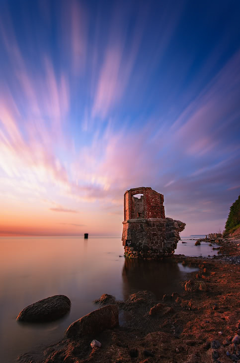 kap arkona pegelhaus rügen island germany cape sunrise
