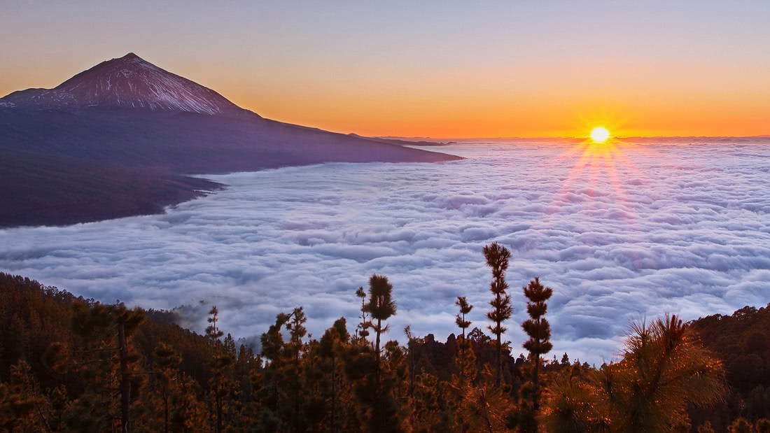 Tenerife el teide islas chimague canarias cliffs sunset sunrise