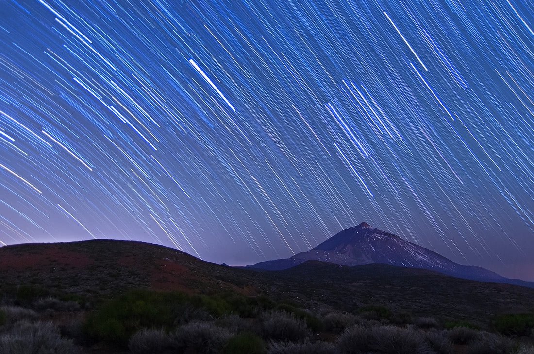 Tenerife islas canarias cliffs sunset sunrise startrails