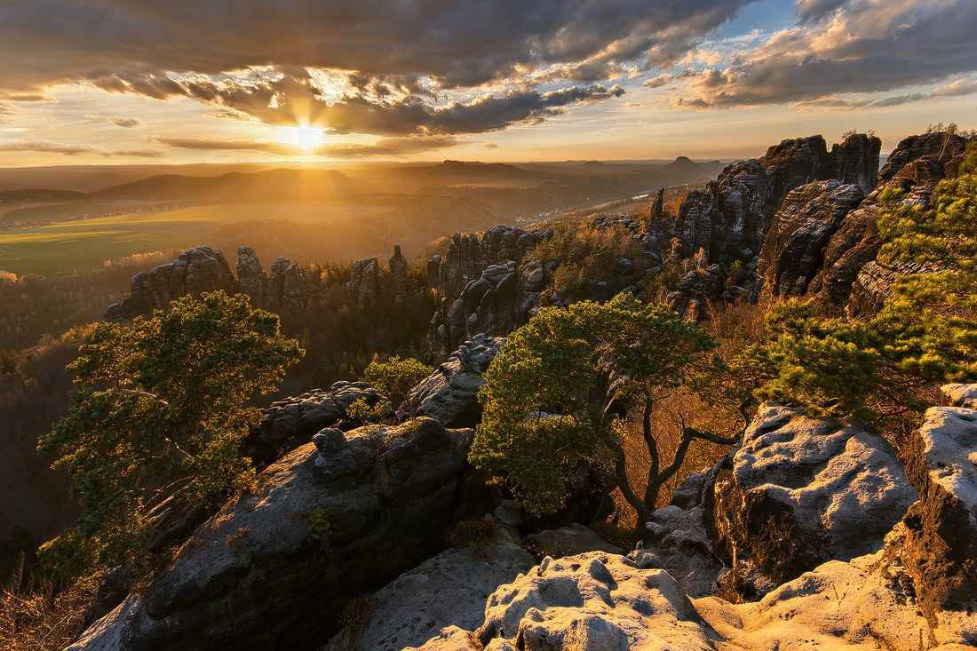 Saxony Switzerland Sächsische Schweiz Sonnenuntergang Sunset Sonnenaufgang Sunrise rocks Carolafelsen