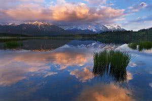 Bayern Alps Alpen Bavaria Geroldsee Barmsee sunset karwendel wetterstein reflection