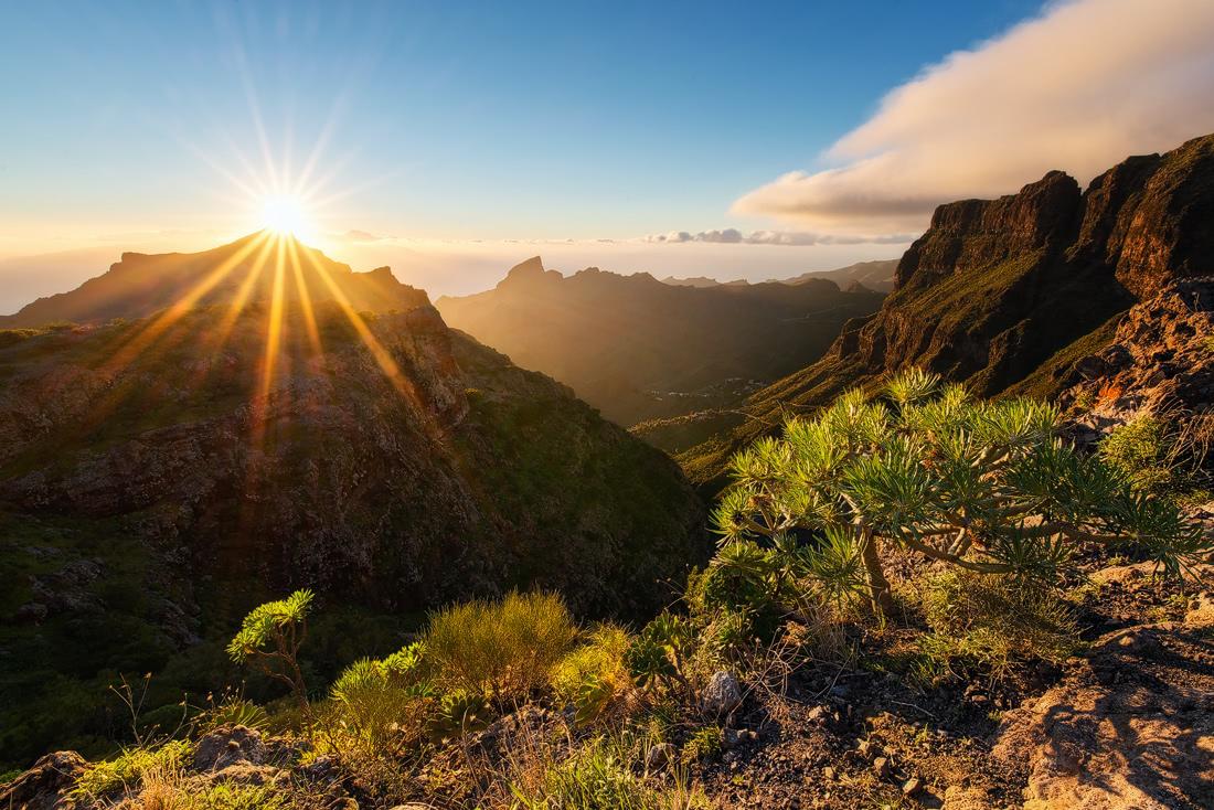 Tenerife islas canarias cliffs sunset sunrise masca