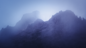 El Teide Caldera nightsky fog clouds