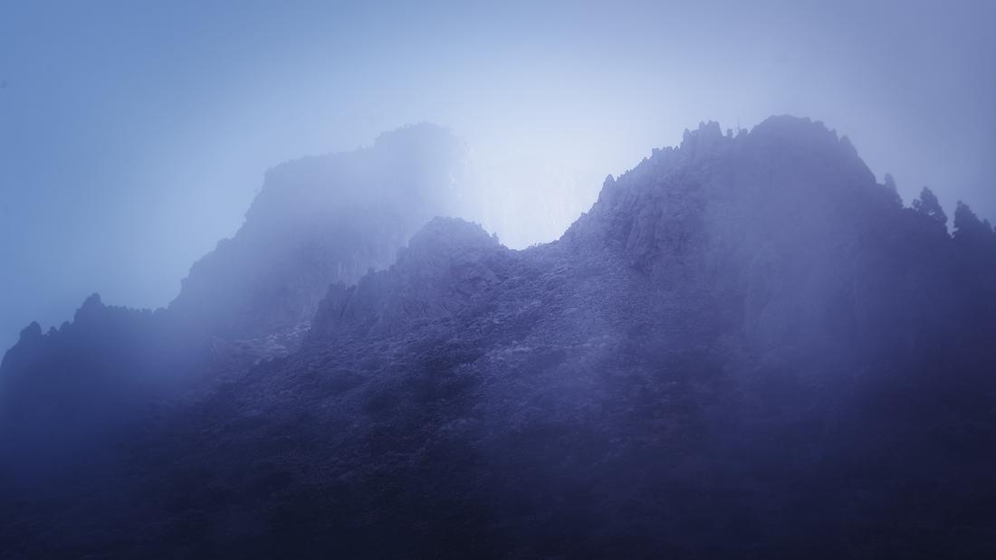 El Teide Caldera nightsky fog clouds