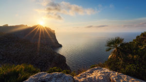 mallorca sunset cliffs nature balearen baleares islas espana