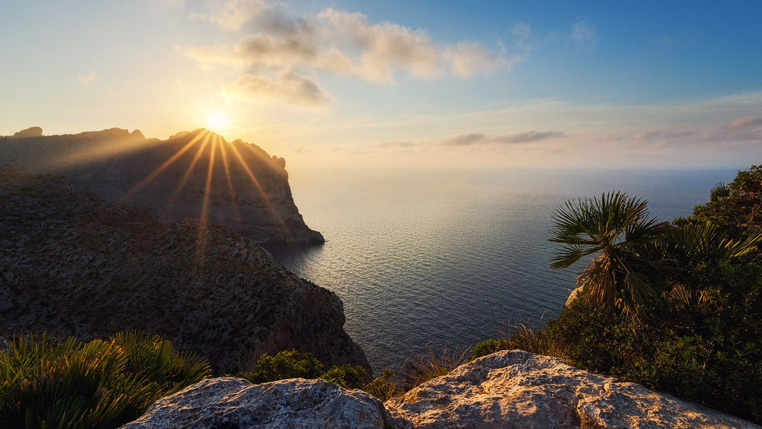mallorca sunset cliffs nature balearen baleares islas espana