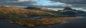 Loch Maree Panorama Sunset Slioch