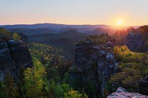 Saxony Switzerland Sächsische Schweiz Sonnenuntergang Sunset Sonnenaufgang Sunrise rocks Heringstein