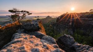 Saxony Switzerland Sächsische Schweiz Sonnenuntergang Sunset Sonnenaufgang Sunrise rocks Lehnriff